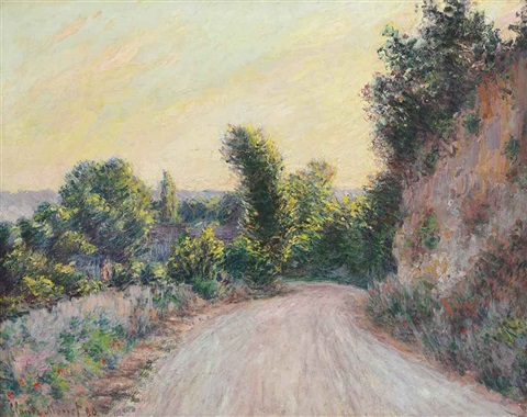 chemin by claude monet