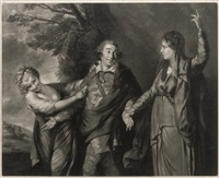garrick between tragedy and comedy (after sir joshua reynolds) by edward fisher