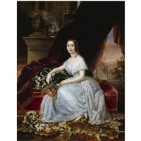 portrait of katerina rosa botsaris by pietro luchine