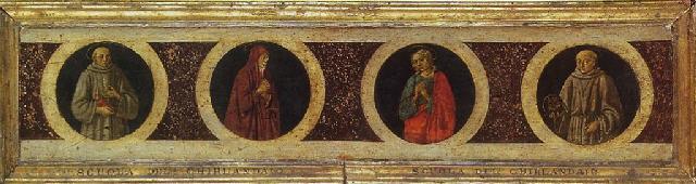 saint françois dassise la vierge saint jean lévangéliste saint bernardin de sienne by domenico ghirlandaio