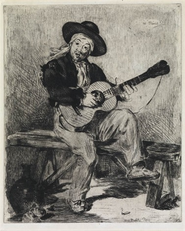 le chanteur espagnol from lartiste by édouard manet