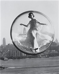 over new york, harper's bazaar cover by melvin sokolsky