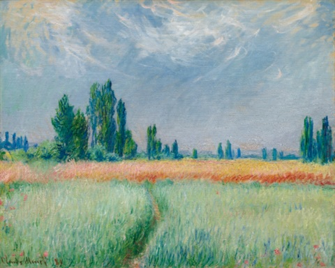 champ de blé by claude monet
