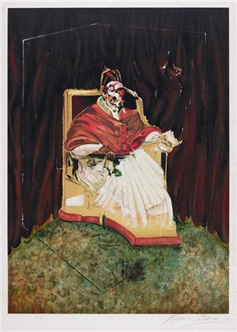 study for a portrait of pope innocent by francis bacon