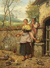 spanish farmer surprising his sweetheart by manuel amell