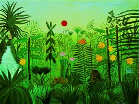 paysage exotique avec lion et lionne dafrique by henri rousseau on artnet. Black Bedroom Furniture Sets. Home Design Ideas