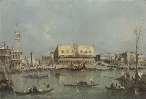 venice the bacino di san marco with the piazzetta and the doges palace by francesco guardi