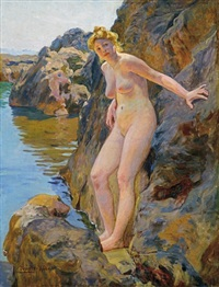 nude among rocks by robert nadler