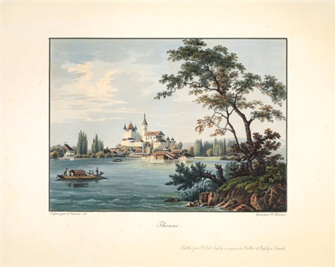 thoune chateau de schadau 1840 2 works engraved by rudolf bodmer by salomon corrodi