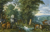 the garden of eden with the fall of man by jan brueghel the elder