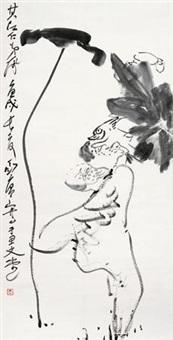 荷塘鸳鸯 by ding yanyong