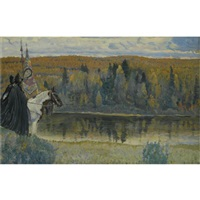 peresvet and oslyabya by mikhail vasilievich nesterov