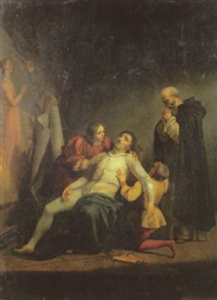 la mort de masaccio by louis-charles-auguste couder