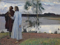 wayfarers. beyond the volga by mikhail vasilievich nesterov