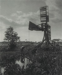 ruined watermill, plate xi (from life and landscape on the norfolk broads) by peter henry emerson