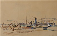le port d'alger by louis adolphe riou