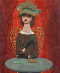 girl at the cafe by pelle aberg