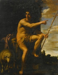 saint john the baptist in the wilderness by cavaliere giovanni baglione