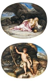 sainte marie madeleine (+ saint jean baptiste; 2 works) by giovanna garzoni