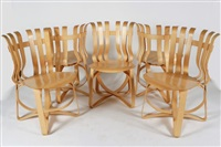 hat trick chairs (5 works) by frank gehry