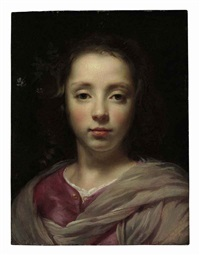 head of a young girl by jacob oost the elder