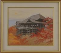 kiyomizu temple in autumn by takashi ishida