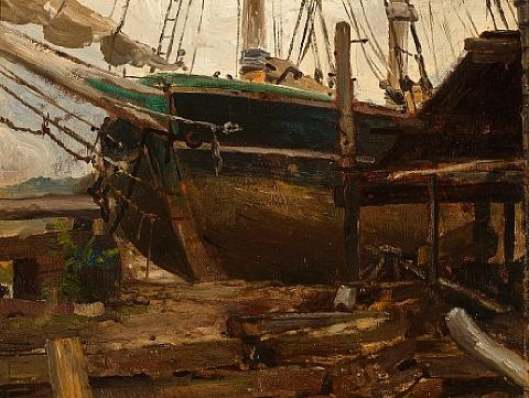 boatyard by john henry twachtman