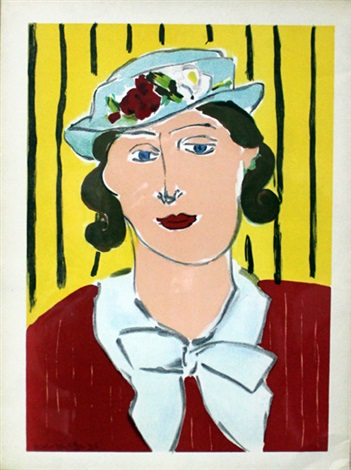 femme au chapeau mujer con sombrero from verve vol ii magazine no 56 by henri matisse
