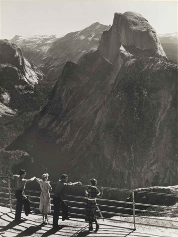 half dome from glacier point, yosemite national park by ansel adams