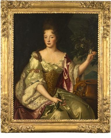 portrait présumé de françoise marie de bourbon duchesse dorléans by pierre gobert