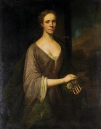 portrait of a lady, traditionally identified as anne, wife of john, 11th lord elphinstone by jeremiah davidson