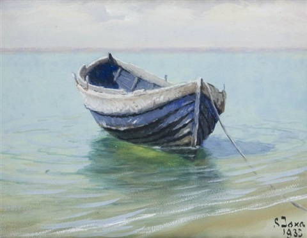 łódź na plaży by soter jaxa malachowski