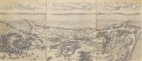 siège de la citadelle de st. martin dans l'ile de ré (on 6 joined sheets) by jacques callot