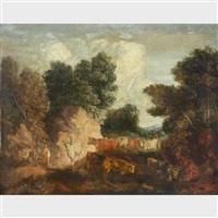 landscape with cattle by thomas gainsborough