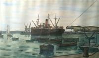 paquebot au port by louis robert antral