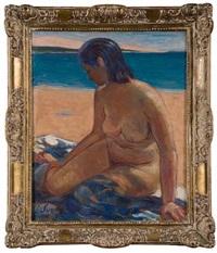 baigneuse sur la plage by marie louis sue
