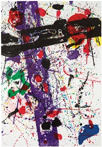 untitled (l. l263; sf-272) (from eight by eight to celebrate the temporary contemporary portfolio) by sam francis