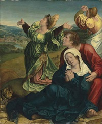 the holy women and saint john by bernaert (barend) van orley