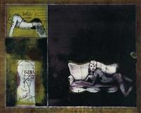 weiblicher akt im sessel (+ frau auf kanapee; 2 works) by olaf auer