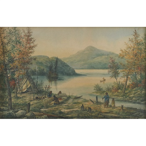trudeau's lake, bowineghere river by alfred worsley holdstock