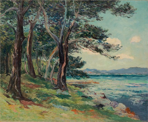 les vieux sapins ile st honorat alpes maritimes by maxime maufra