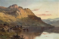 sunset over loch awe by alfred de breanski sr