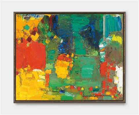 swamp series iv sunburst by hans hofmann