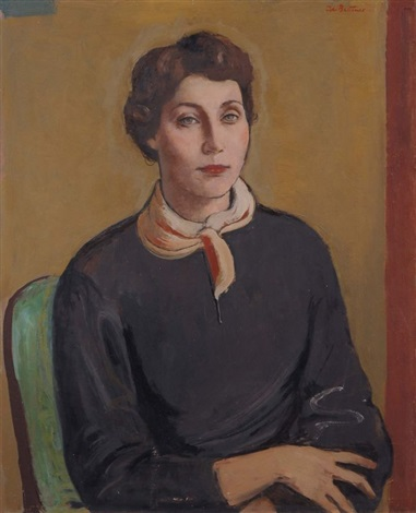 portrait of caroline schwendy by johannes beutner
