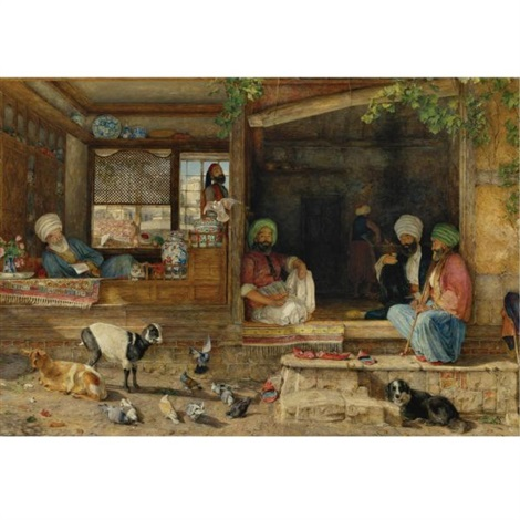 the kibab shop scutari asia minor by john frederick lewis