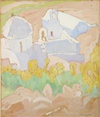 view of mesohora, aegina by spyros papaloukas