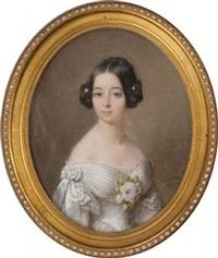 portrait de jeanne d'osmond duchesse de maillé by francois meuret