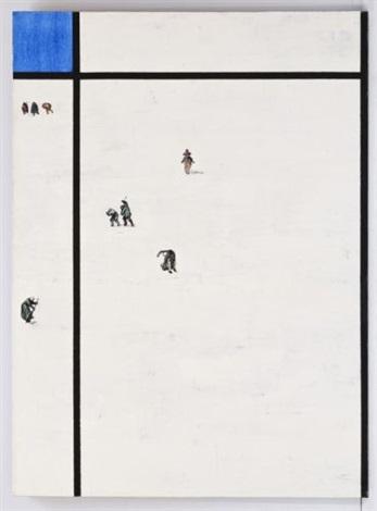 mondrian nevado con figuritas de brueghel diptych by boris viskin