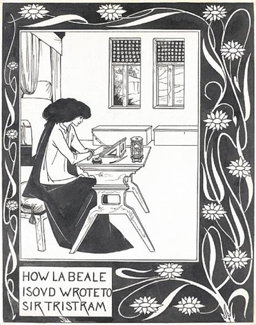 how la beale isoud wrote to sir tristram by aubrey vincent beardsley