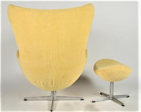 Arne Jacobsen Egg Chair With Foot Stool By Arne Jacobsen